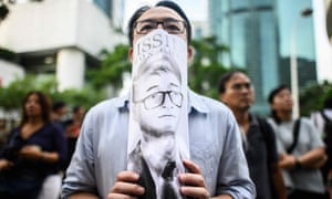 Demonstration outside British consulate in Hong Kong demanding UK intervention to free Simon Cheng, a consulate employee in 'administrative detention' in China.
