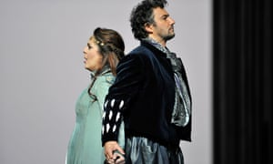 A man whose public and private personae are fatally at odds … Jonas Kaufmann as Otello and Maria Agresta as Desdemona.