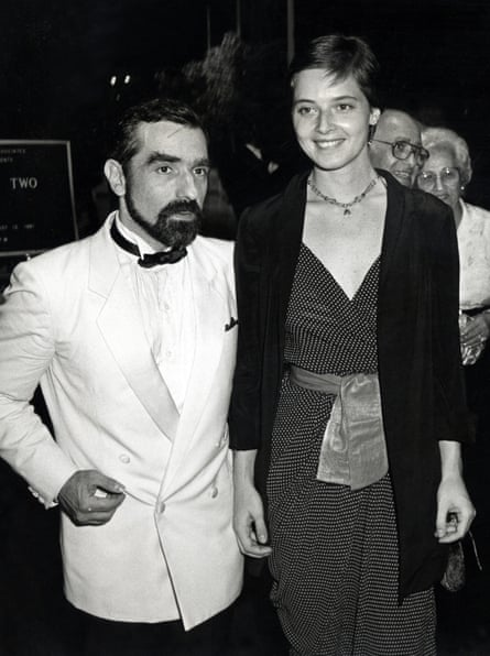 Isabella Rossellini at a dinner with Martin Scorsese in 1981