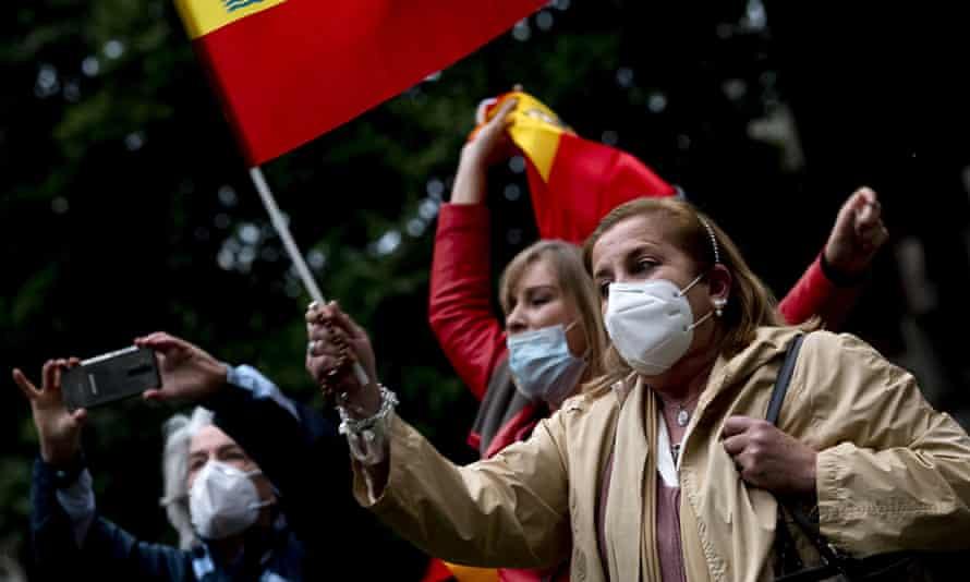 Madrid lockdown protest