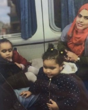 Rania Ibrahim and her two daughters Hania Hassan and Fethia Hassan