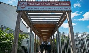 Park View school in Birmingham – now Rockwood Academy.