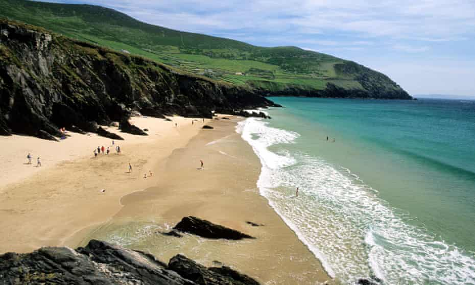 Swimming from Sleahead beach on Kerry's Dingle peninsula.