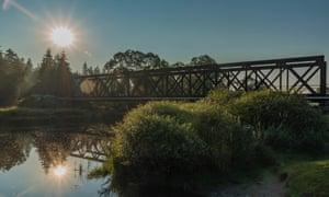 A railway bridge over Tepla River.
