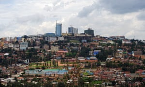 A wide view of Kigali.