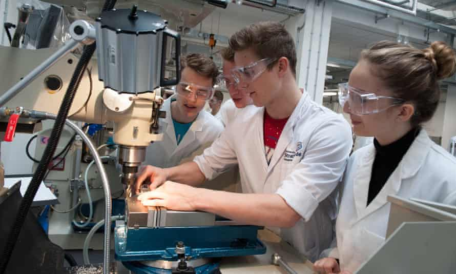 Students at Strathclyde University