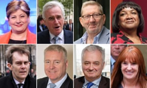 Key players within the struggle for influence within Labour.
