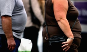 Overweight man and woman