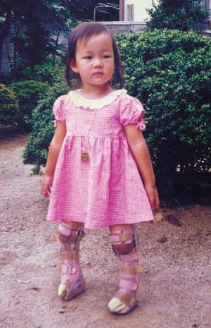 The artist as a little girl.