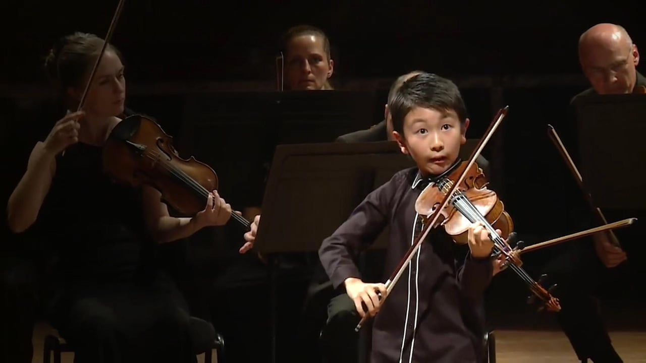 Australian violin prodigy, 10, named youngest ever winner at Menuhin  Competition – video