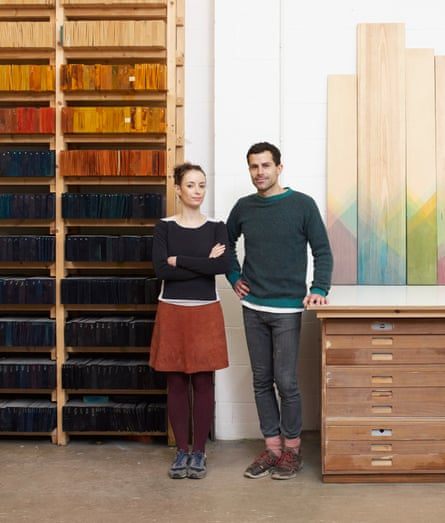 Raw Edges' Yael Mer and Shay Alkalay at work in Stoke Newington.