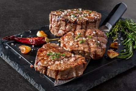 Grilled Fillet Steak with Herbal Grilled fillet steak with herbs and garlic