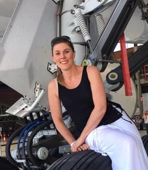 Flight attendant Rebecca Wilkie