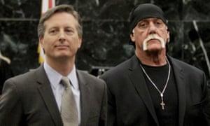 Hulk Hogan and Peter Thiel (left).