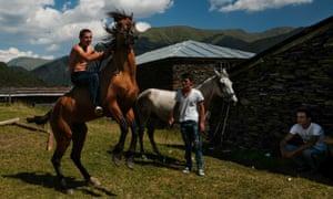 Tusheti, Georgia: man on horse