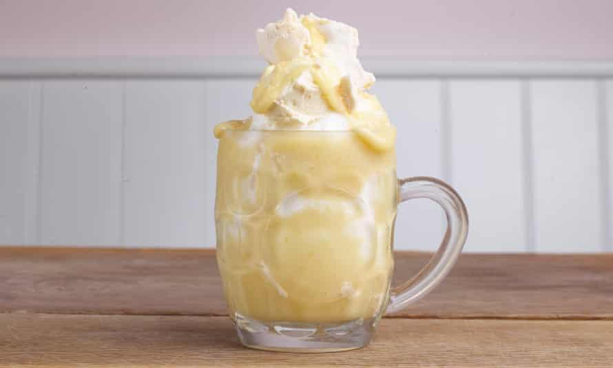'Palate cleanser': lemon meringue sundae.