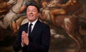 Matteo Renzi resigned after losing a referendum in December.