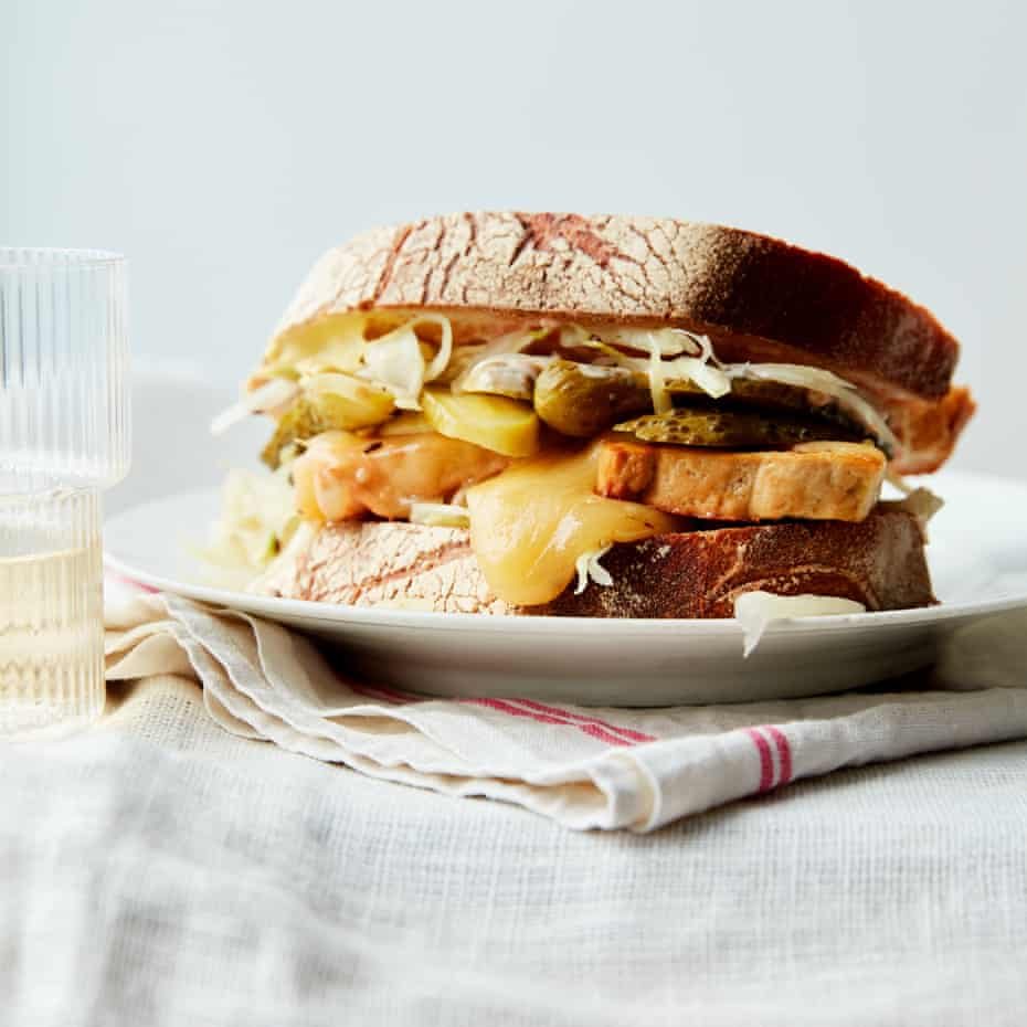 Anna Jones' Katz's deli-inspired tofu melt sandwich inspired by When Harry Met Sally.