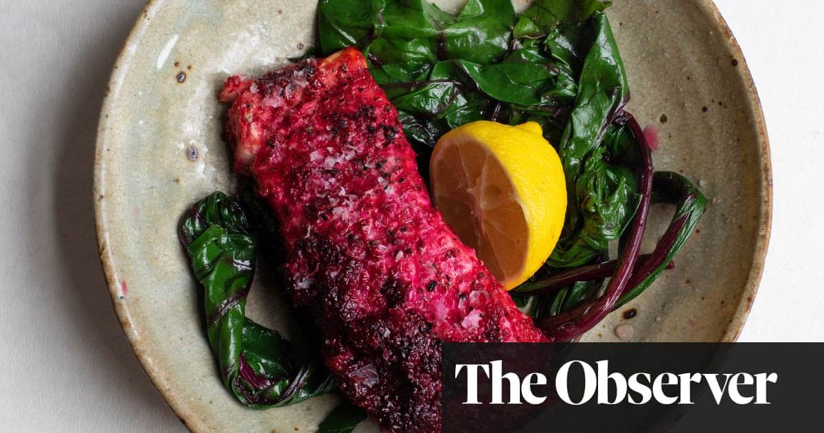 Nigel Slater's salmon with beetroot and ginger recipe