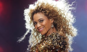 Beyoncé at Glastonbury 2011.