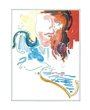 Abigail Haness. A swirling impression of Abigail Haness, founding member and vocalist of LA rock group, Jo Mama. The group's debut LP, released in 1970 on Atlantic Records, featuring backing vocals from Carole King.