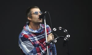 Liam Gallagher on the Pyramid stage at Glastonbury 2019.