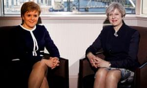 Theresa May and Nicola Sturgeon in Glasgow