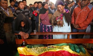 Mourners grieve for Juan Tenorio, killed during clashes between security forces and supporters of former President Evo Morales.