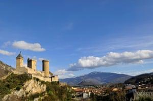 The castle of Foix, France.