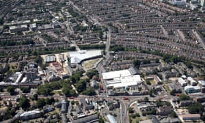 An aerial view of Haringey in north London