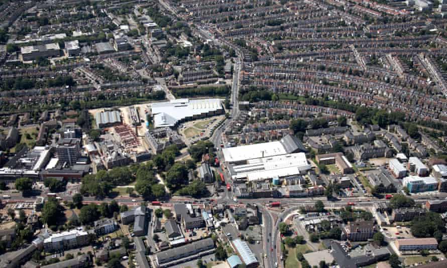 Aerial view, Tottenham, north London