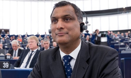 Syed Kamall listens during a session of the European Parliament