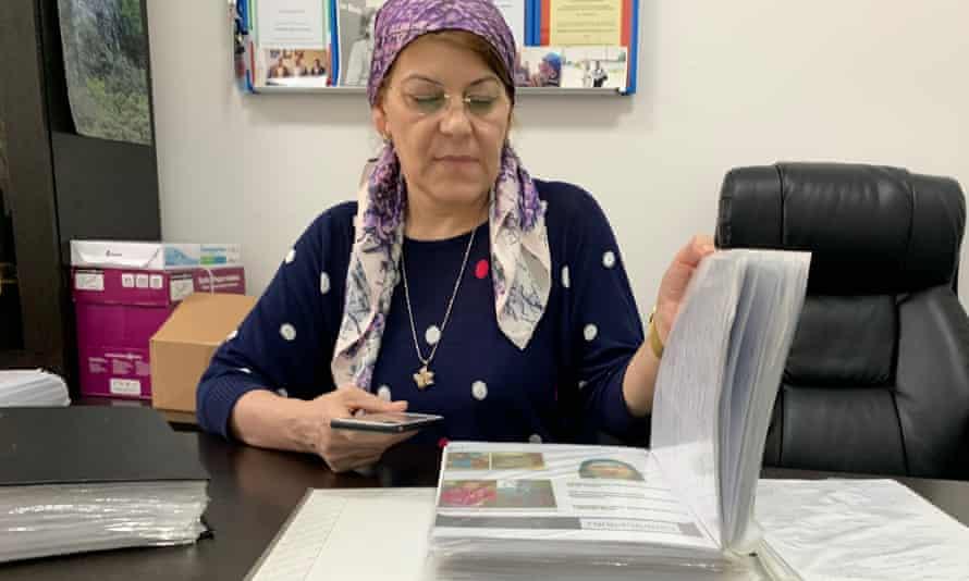 Chechen human rights advocate Kheda Saratova.