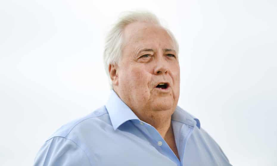 Businessman Clive Palmer is seen during a press conference on the Gold Coast in March 2020.