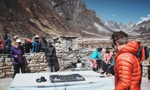 'People were being helicoptered off' … Oakenfold on his way to Everest.