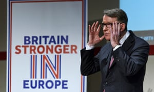 Lord Mandelson delivering his EU speech.