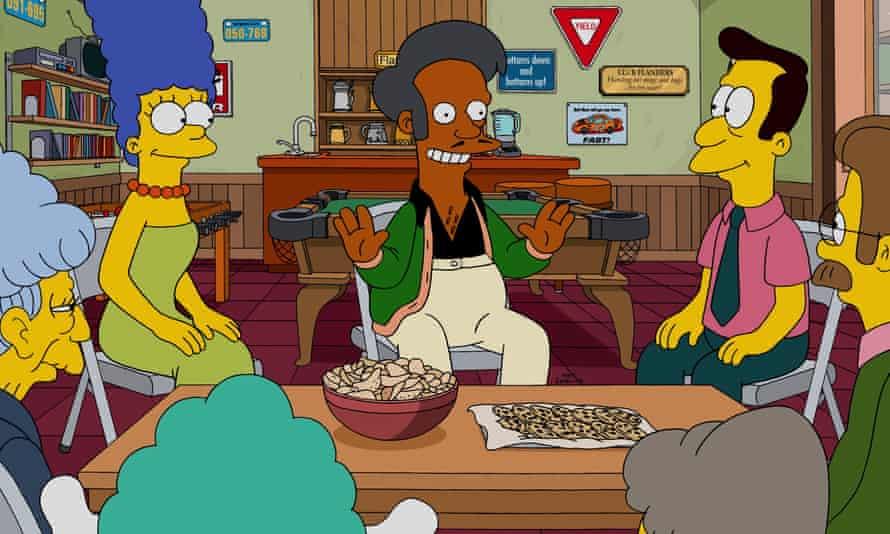 Apu advises on community fundraising, in The Simpsons.