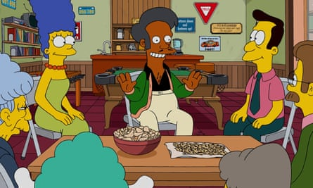 Apu advises on community fundraising, in The Simpsons.