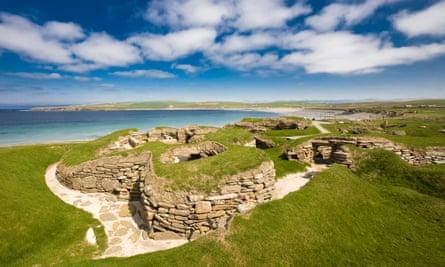 The Neolithic settlement of Skara Brae, in Orkney.