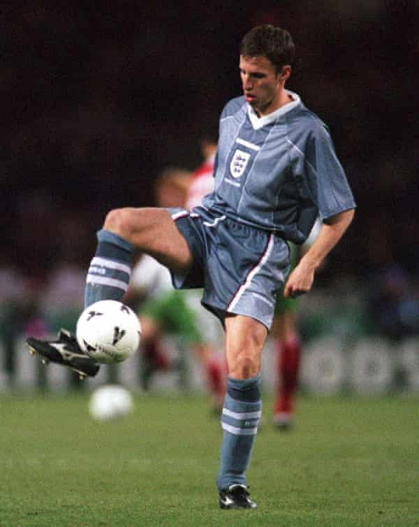 Southgate playing for England in 1996.