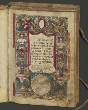 A richly-decorated manuscript.