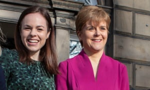 Kate Forbes, left, with Scottish first minister, Nicola Sturgeon.