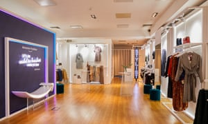 Amazon's pop-up fashion shop, its first in Europe,  on Baker Street in London.