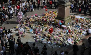 Floral tributes to the victims of the attack at Grande's Manchester Arena concert.