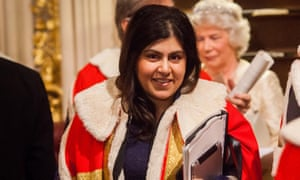 Lady Warsi pictured in 2012. She has launched an all-party parliamentary group, Compassion in Politics.