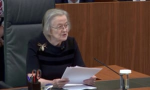 Lady Hale at the supreme court delivering the judgment on prorogation.