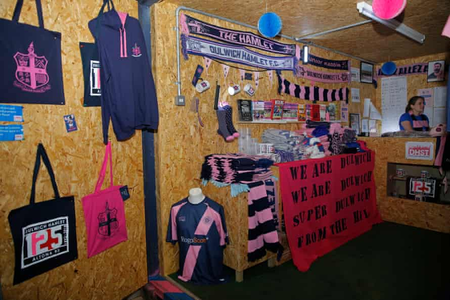 Dulwich Hamlet's temporary club shop.