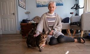 Sarah Mo with Kitty.