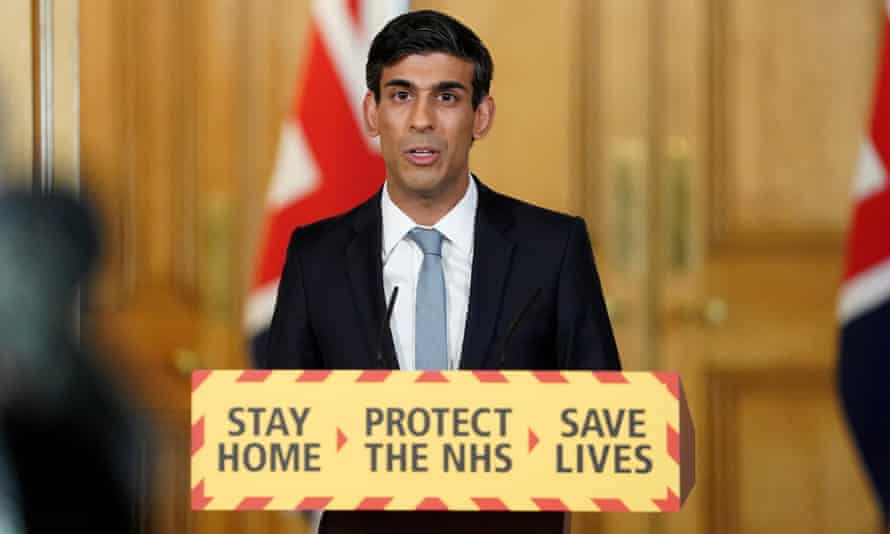 The chancellor, Rishi Sunak, speaking at the daily Downing Street press conference.