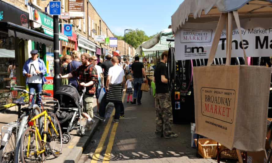 'A promenade for the East End fashion set' ... Broadway Market.